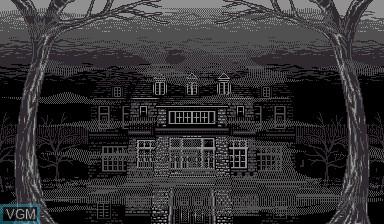 Menu screen of the game Insmouse no Yakata on Nintendo Virtual Boy