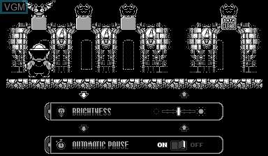Menu screen of the game Virtual Boy Wario Land on Nintendo Virtual Boy