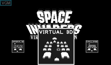 Menu screen of the game Space Invaders Virtual Collection on Nintendo Virtual Boy