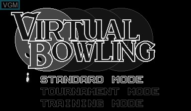 Menu screen of the game Virtual Bowling on Nintendo Virtual Boy