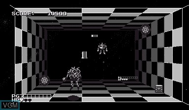 In-game screen of the game Space Squash on Nintendo Virtual Boy