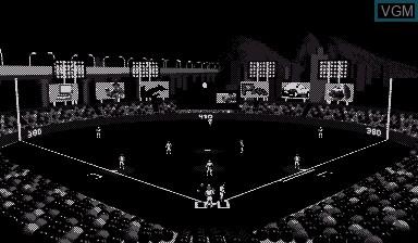 In-game screen of the game Virtual League Baseball on Nintendo Virtual Boy