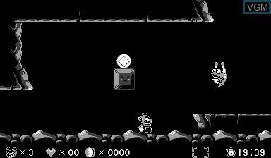 In-game screen of the game Virtual Boy Wario Land on Nintendo Virtual Boy