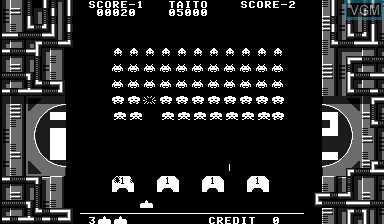 In-game screen of the game Space Invaders Virtual Collection on Nintendo Virtual Boy