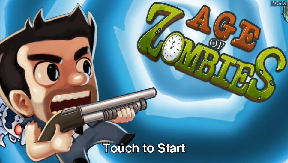 Title screen of the game Age of Zombies on Sony PS Vita