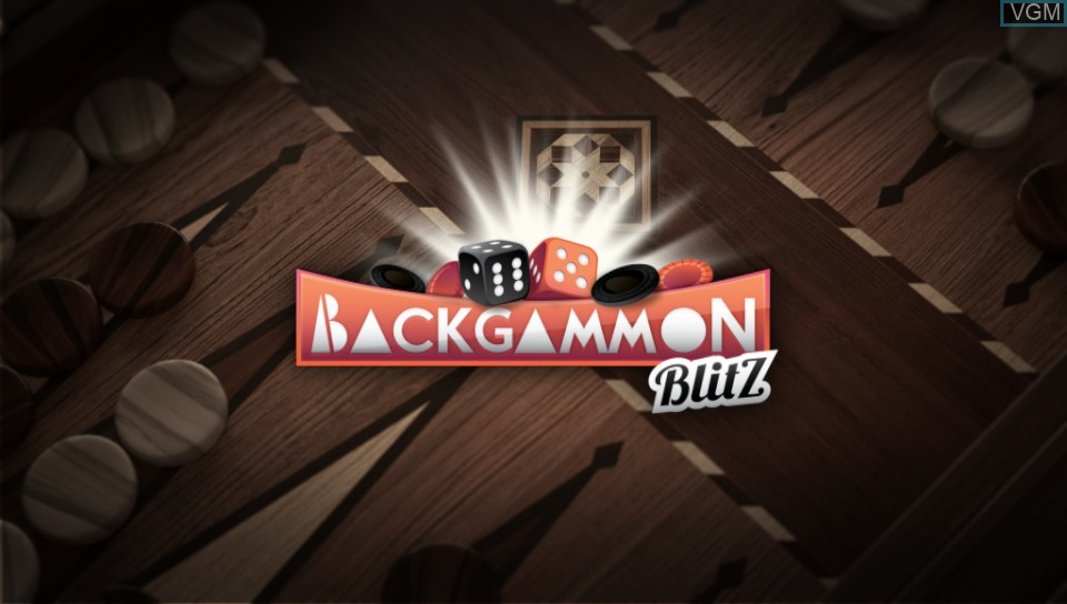 Title screen of the game Backgammon Blitz on Sony PS Vita