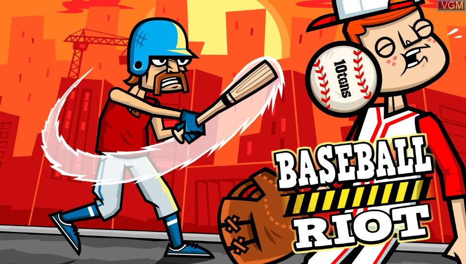 Title screen of the game Baseball Riot on Sony PS Vita