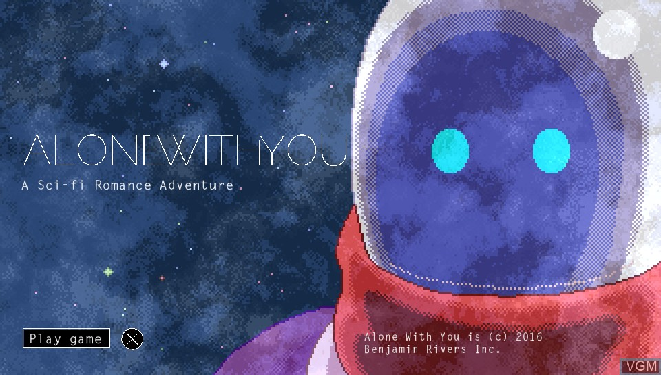Title screen of the game Alone With You on Sony PS Vita