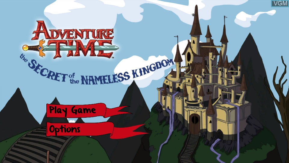 Title screen of the game Adventure Time - The Secret of the Nameless Kingdom on Sony PS Vita