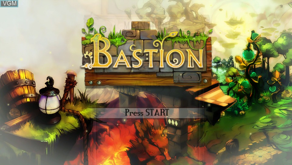 Title screen of the game Bastion on Sony PS Vita