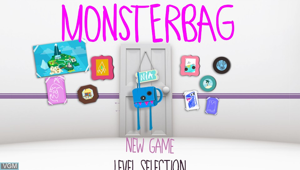 Title screen of the game MonsterBag on Sony PS Vita
