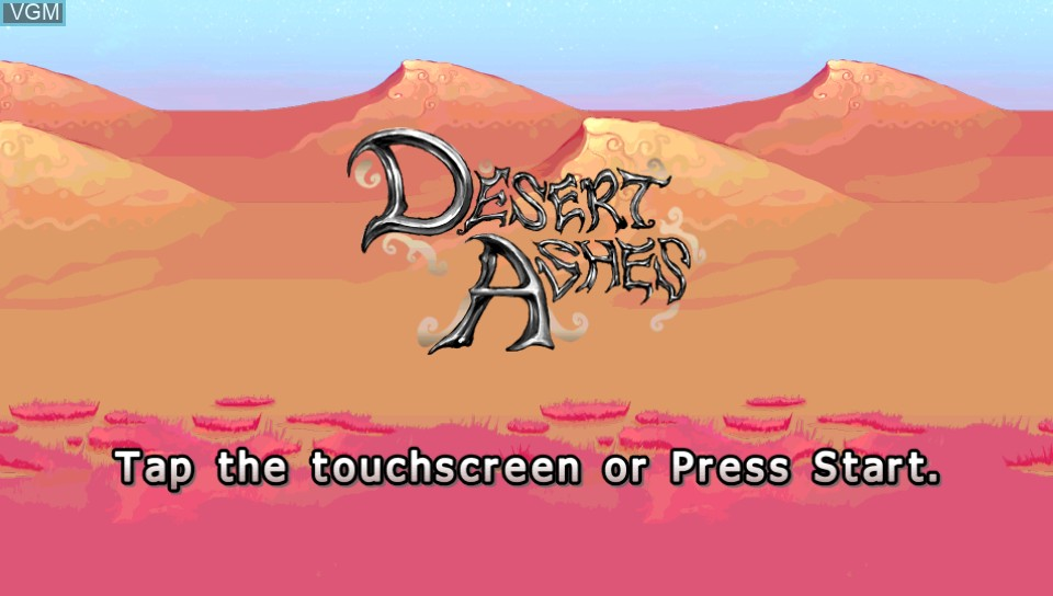 Title screen of the game Desert Ashes on Sony PS Vita