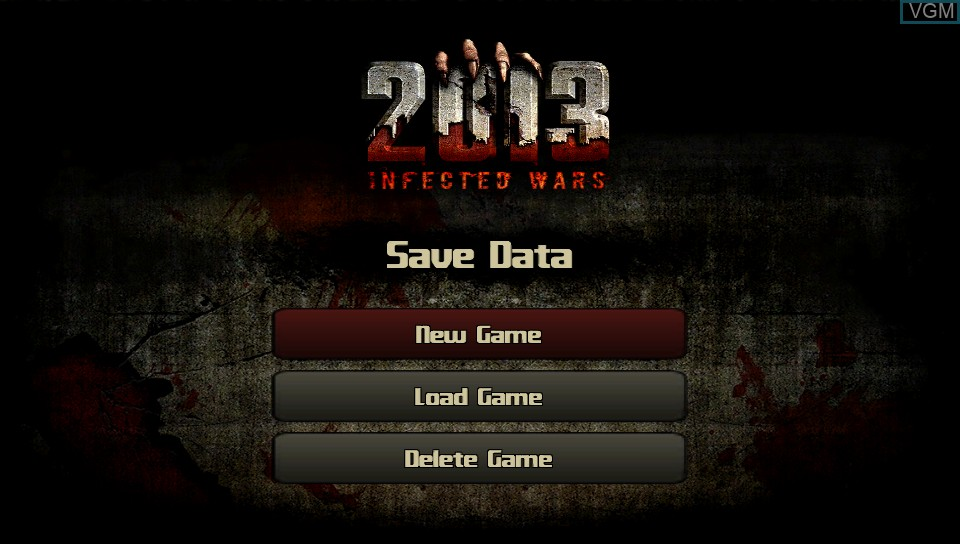 Title screen of the game 2013 - Infected Wars on Sony PS Vita
