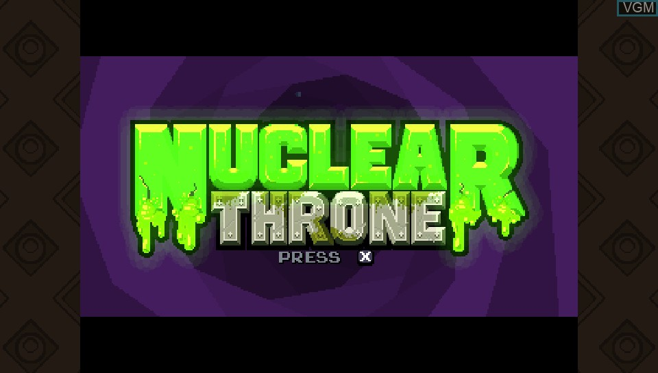 Title screen of the game Nuclear Throne on Sony PS Vita