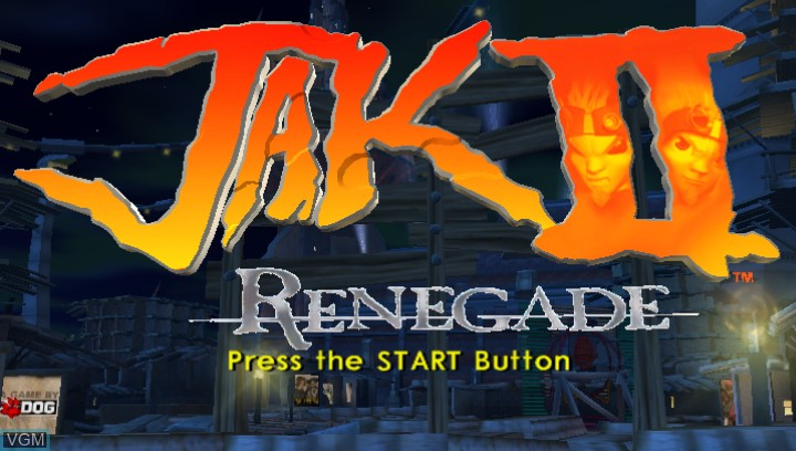 Title screen of the game Jak II HD on Sony PS Vita