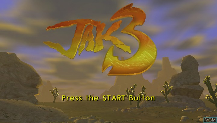 Title screen of the game Jak 3 HD on Sony PS Vita