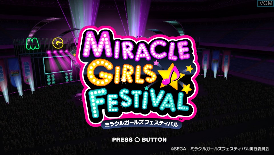 Title screen of the game Miracle Girls Festival on Sony PS Vita