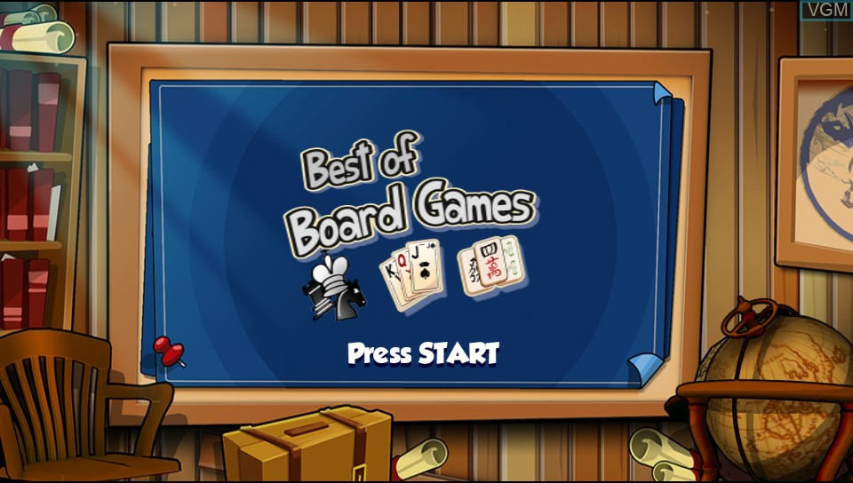 Title screen of the game Best of Board Games on Sony PS Vita