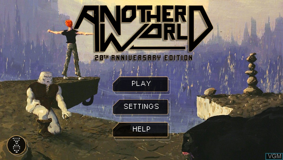 Title screen of the game Another World - 20th Anniversary Edition on Sony PS Vita