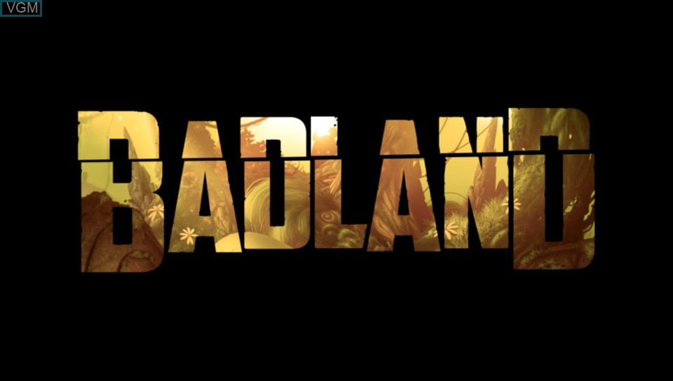 Title screen of the game BADLAND on Sony PS Vita