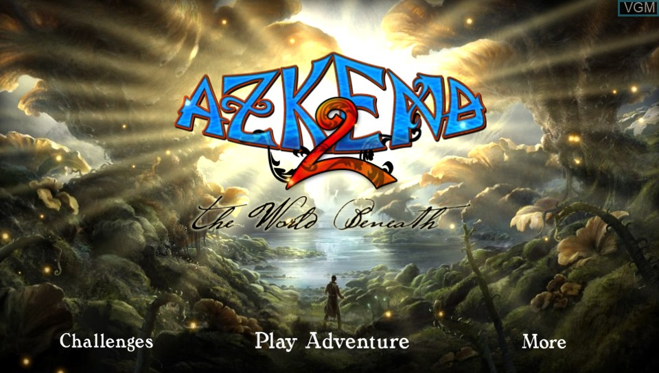 Title screen of the game Azkend 2 - The World Beneath on Sony PS Vita