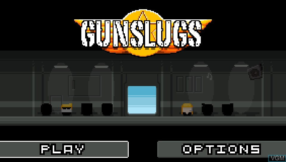 Title screen of the game Gunslugs on Sony PS Vita