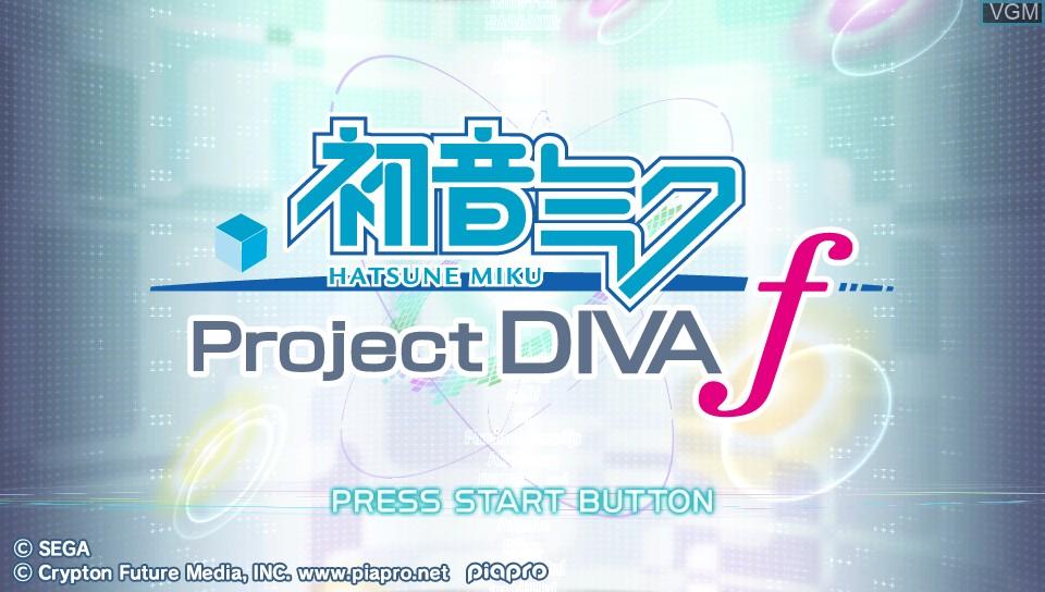 Title screen of the game Hatsune Miku - Project Diva f on Sony PS Vita