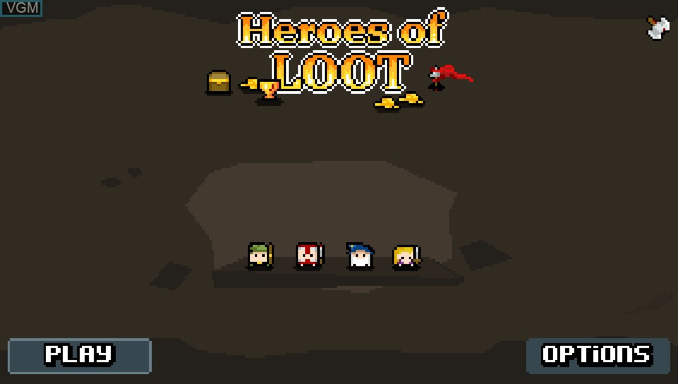 Title screen of the game Heroes of Loot on Sony PS Vita
