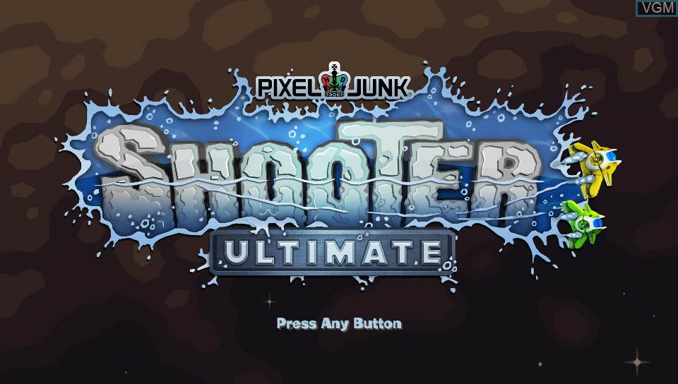 Title screen of the game PixelJunk Shooter Ultimate on Sony PS Vita