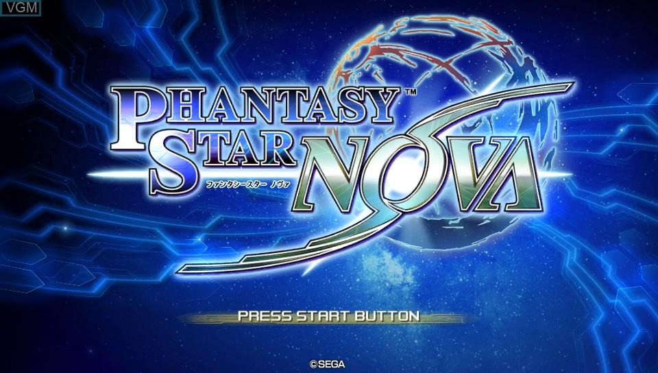 Title screen of the game Phantasy Star Nova on Sony PS Vita
