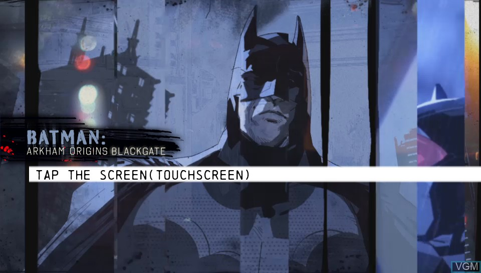 Title screen of the game Batman - Arkham Origins Blackgate on Sony PS Vita