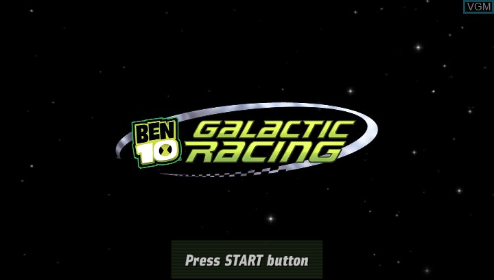 Title screen of the game Ben 10 - Galactic Racing on Sony PS Vita