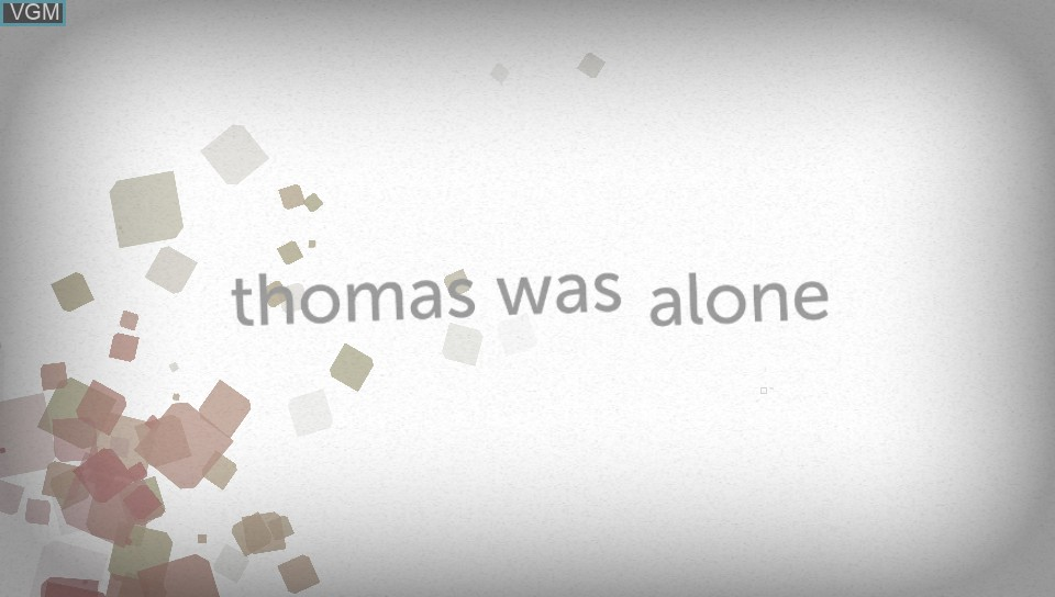 Title screen of the game Thomas Was Alone on Sony PS Vita