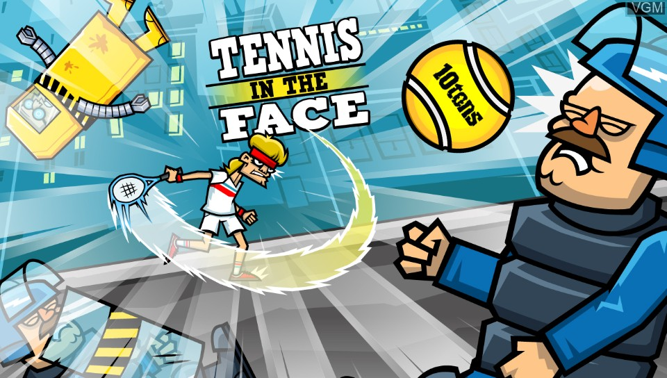 Title screen of the game Tennis in the Face on Sony PS Vita