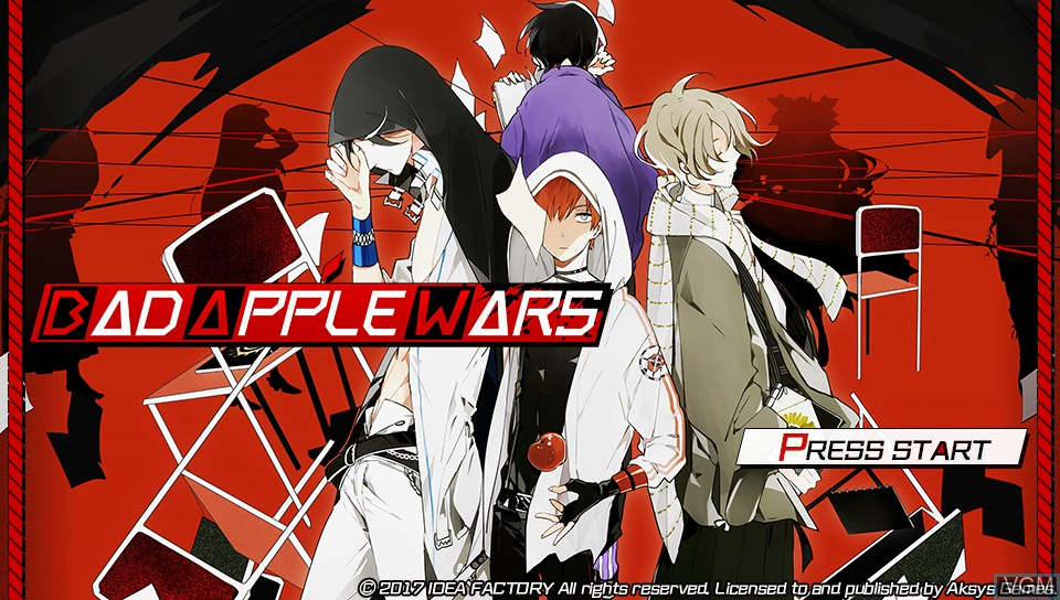 Title screen of the game Bad Apple Wars on Sony PS Vita