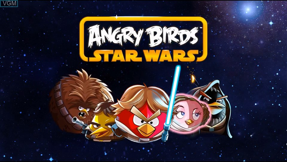 Title screen of the game Angry Birds Star Wars on Sony PS Vita