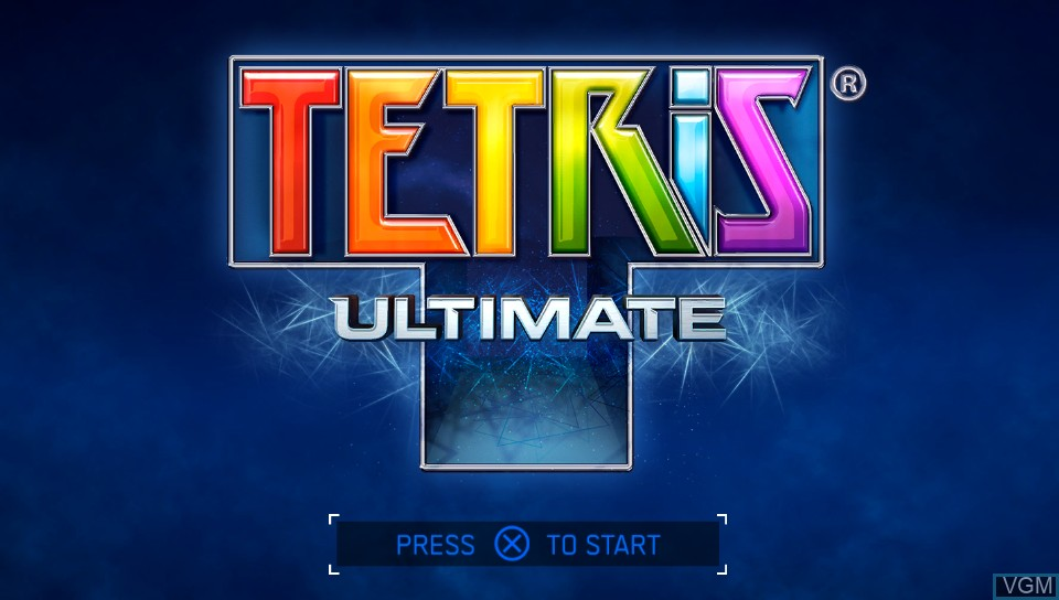Title screen of the game Tetris Ultimate on Sony PS Vita