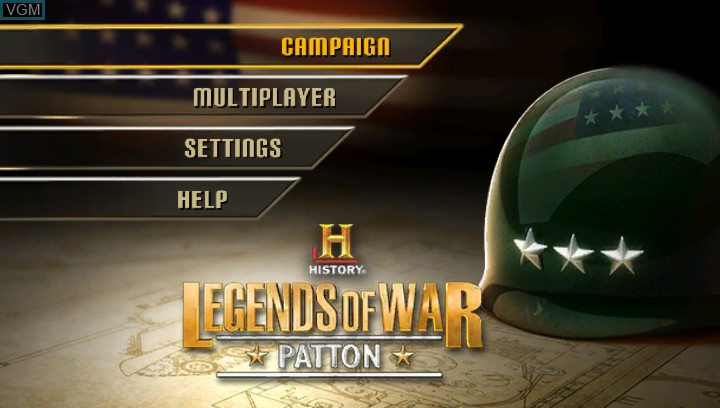 Title screen of the game History Legends of War - Patton on Sony PS Vita
