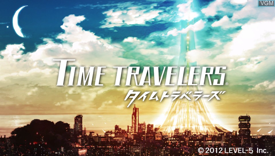 Title screen of the game Time Travelers on Sony PS Vita