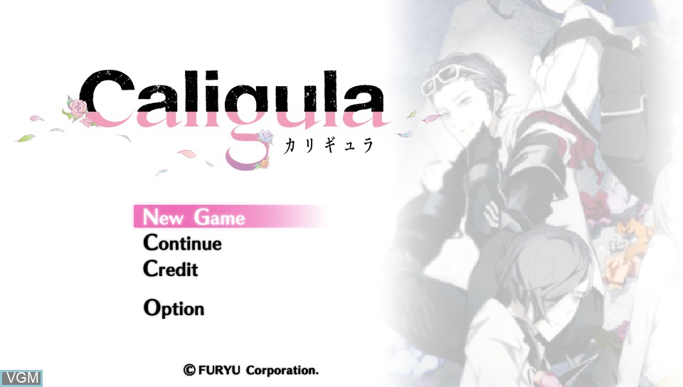 Title screen of the game Caligula on Sony PS Vita
