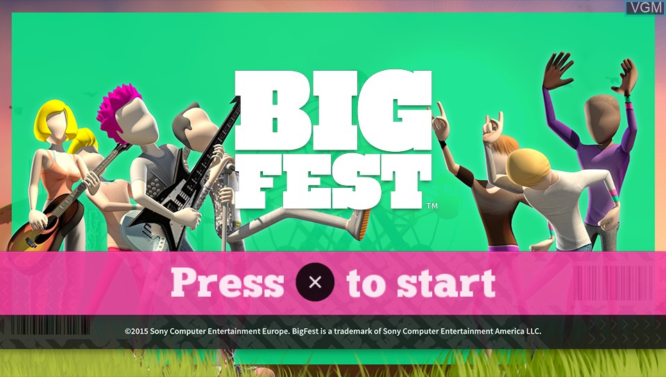Title screen of the game BigFest on Sony PS Vita