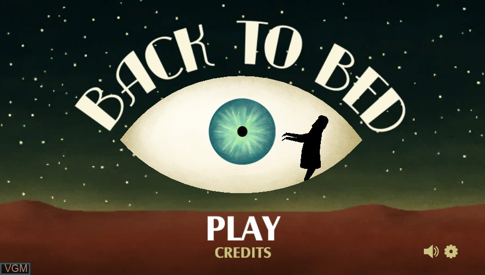 Title screen of the game Back to Bed on Sony PS Vita
