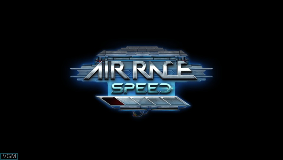 Title screen of the game Air Race Speed on Sony PS Vita
