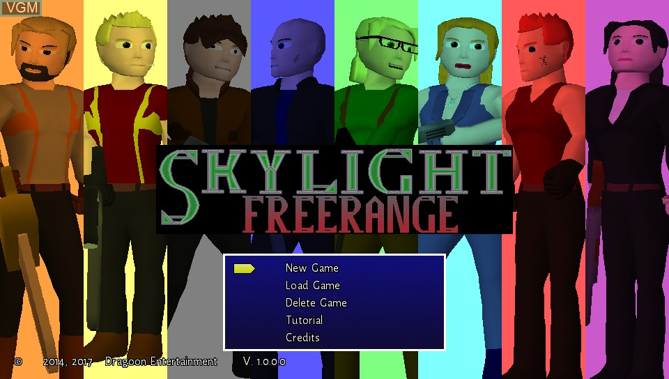 Title screen of the game Skylight Freerange on Sony PS Vita