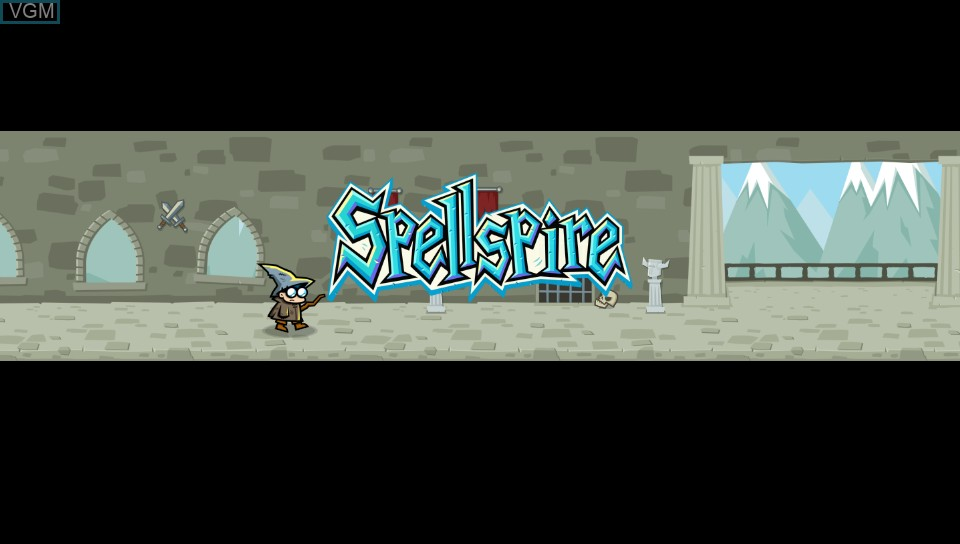 Title screen of the game Spellspire on Sony PS Vita