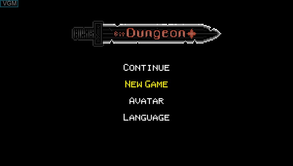 Title screen of the game Bit Dungeon+ on Sony PS Vita
