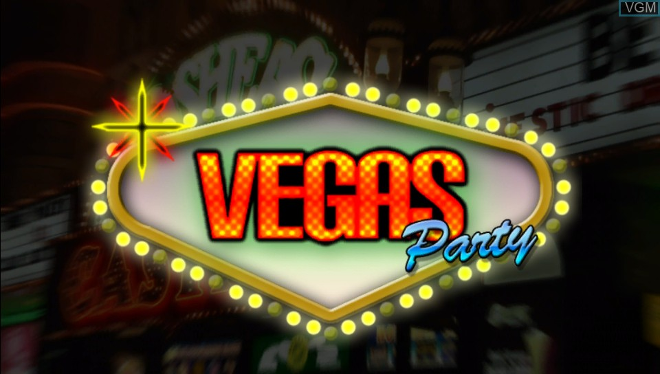 Title screen of the game Vegas Party on Sony PS Vita