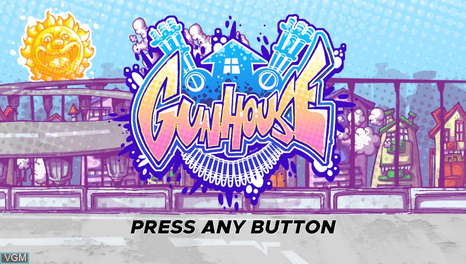 Title screen of the game Gunhouse on Sony PS Vita