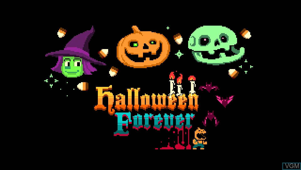 Title screen of the game Halloween Forever on Sony PS Vita