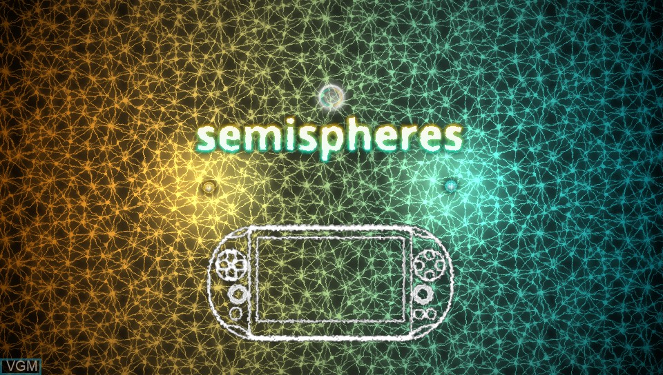 Title screen of the game Semispheres on Sony PS Vita